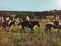Vintage Postcard Horses and People Lake Murray Lodge Ardmore Oklahoma S1