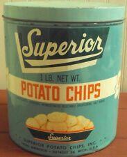1950'S SUPERIOR POTATO CHIP TIN