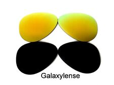 Galaxy Replacement Lenses For Ray Ban RB3025 Aviator Black&Gold 58mm Polarized