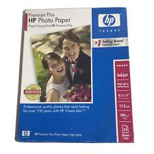 New HP Premium Plus Photo Paper High Gloss Q6568A 8.5 x 11 Inkjet 25 sheets