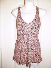 ANTHROPOLOGIE SILENCE & NOISE Multi Print ZIP BACK Tank Top Small