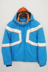 Boys KJUS Jacket Skiing Blue Padded Hooded 152 11-12 Years L XJK46