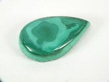 Malachite Australian Cabochon Teardrop Freeform (EA6604) Green Gem