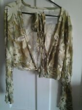Maternity Bolero Style Top, in pastel greens, size Large, BN