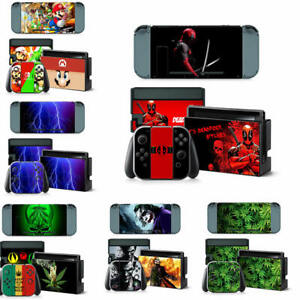 For Nintendo Switch Console Sticker Joy-Con Dock Skin Vinyl Decal Cover Full set