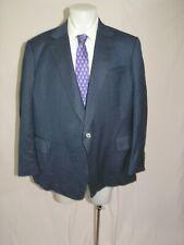 Dege Skinner Savile Row Custom Dark Royal Blue Herringbone One Button Blazer 52R