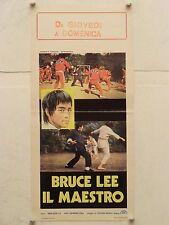 BRUCE LEE IL MAESTRO regia Chin Wah locandina originale 1978