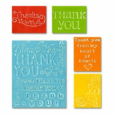 Sizzix Textured Embossing Folders - Thank You Set #2  655851