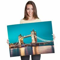 A1 - Tower Bridge London England Poster 60X90cm180gsm Print #2492
