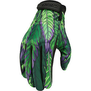 *FREE SHIPPING* ICON HOOLIGAN RITEMIND GREEN GLOVES PICK YOUR SIZE