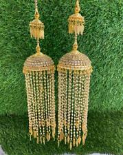 Bollywood Rajwadi Dulhan Set Wedding CZ Chura Bangle Bridal Set Pearl CZ Kalire