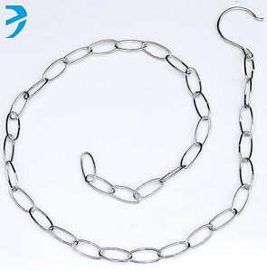 """47"""" Long Metal Chain with Hook Multiple Hanging Clothes Market Shop Display"""