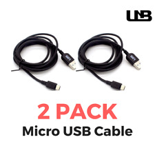 TWO PACK - Premium Micro USB Cable (2m): Charge & Sync for Android