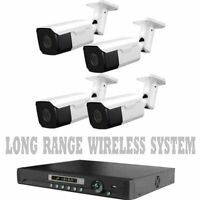 LONG RANGE WIRELESS TRANSMIT UP TO 1700 FT Security Cameras Night Vision W/ DVR