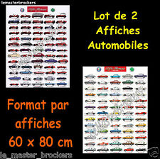 130 autos voitures collection ALFA ROMEO   (LOT DE 2 Posters)