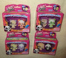 Rare Crystal Panda 8 Flocked Figure Lot - 4 Box Sets Blue Box Toys Hello Kitty