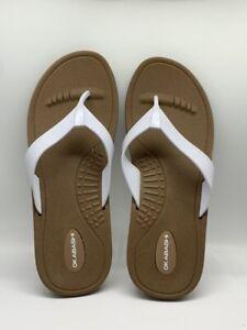 Okabashi Breeze White Flip Flops M/L Womens New
