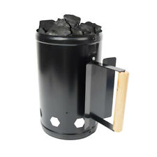 Barbecue BBQ Chimney Starter Charcoal Grill Steel Rapid Quick Fire Lighter US