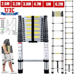 Heavy Duty Multi-Purpose Aluminum Telescopic Step Ladder Extendable 2.6M-6.2M