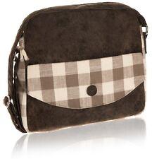 Taupe Natural Check Messenger Bag - Fair Trade BNWT