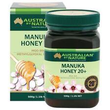 2 x Australian By Nature Bio Active 20+ 500g Manuka Honey - 100% New Zealand (MG
