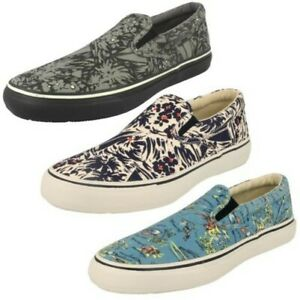 Mens Sperry This Sole Canvas Shoes 'Striper So'