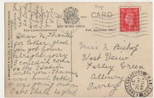 Miss Bishop, West View, Farley Green, Albury 1937 Postcard, B410