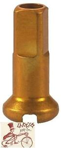 DT SWISS 2.0 X 12MM GOLD ALLOY BICYCLE SPOKE NIPPLES--BOX OF 100