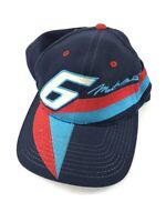 Vintage 90s Mark Martin Color Block Nascar Hat NUTMEG Wool Blend Snapback Cap