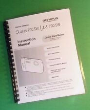 Laser Printed Olympus 790 Sw Stylus 790 Sw Camera 84 Page Owners Manual Guide