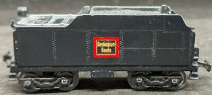 Maisto - ON TRACK: BURLINGTON ROUTE COAL TENDER, BLACK - 1:131 SCALE Diecast TT
