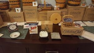 Longaberger Collector's Club J.W. Collection Miniature Baskets & Pottery