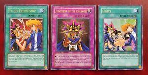 Yu Gi Oh Jump Promos x 3: Judgment of the Pharaoh, Yu-Jo Friendship & Unity NM