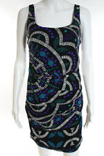 Nicole Miller Multi-Color Silk Abstract Print Sleeveless Pencil Dress Size 6