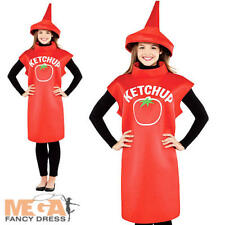 Ketchup Bottle Adults Fancy Dress Food Dinner Party Sauce Ladies Mens Costume
