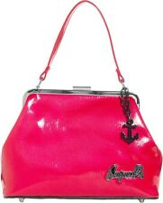 78093 Raspberry Pink Betsy Purse Sourpuss Retro Fifties 50s Pinup Anchor Charm