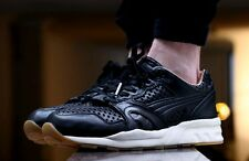 PUMA LASERCUT LEATHER TRINOMIC / EBONY-TURTLEDOVE / SZ, 10