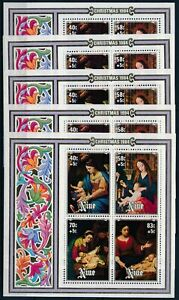 [PG20168] Niue 1984 : Art - 5x Good Very Fine MNH Sheet