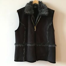 Clothing, Shoes & Accessories Faux Fur/suede Reversible Gilet Size M With Embroidery Detailing Comfortable Feel Coats, Jackets & Vests