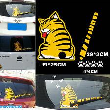 Car Rear Window Decal Cute Yellow Cat Kitty Moving Tail Waterproof Sticker