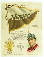 C.1910 Lehigh University College Mascot Cheer Tobacco Silk Vintage Original