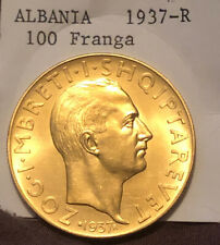 Albania GOLD 1.2oz 1937-R  100 Franga (Rare Coin) !!!ONLY 500 Minted!!!
