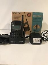 Sony CM-RX100 Portable Cell Phone VINTAGE Cellular Telephone w/ Charger & Case