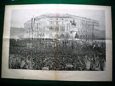 Incisione enorme - Milano 1895, inaugurazione del monumento a Garibaldi