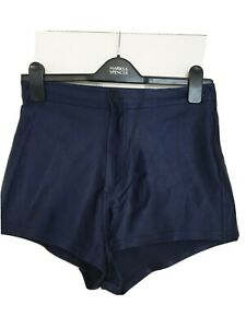 American Apparel Disco Pants Hotpants High waisted shorts size L navy blue
