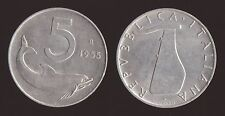 5 LIRE 1955 DELFINO E TIMONE - ITALIA