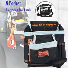 Tool Pouch Belt Bag 8 Pocket Slot Storage Holder Electrician Nylon Canvas