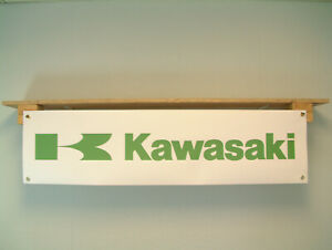 Kawasaki BANNER Motorcycle Show Workshop Display printed pvc sign