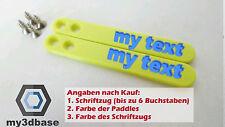 Kunststoff Paddles PS3 mit TEXT inkl. Edelstahlschrauben
