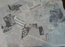 Edward Ted Kennedy VINTAGE NEWSPAPER CLIPPINGS 1980 campaign over 40 articles c